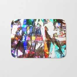 Light Streaming Through Stained Glass Bath Mat