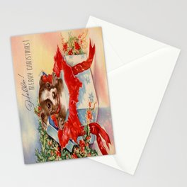 Christmas puppy Stationery Cards