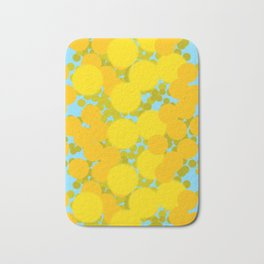 Yellow optimistic polka dot pattern Bath Mat