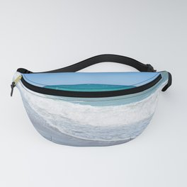 Sandy beach and Mediterranean sea Fanny Pack