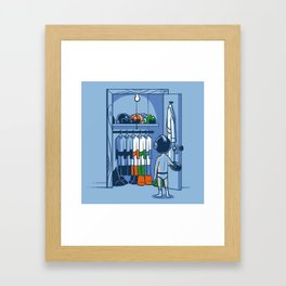 The Morning Routine Framed Art Print