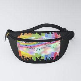 Colorful Musical Theme Fanny Pack