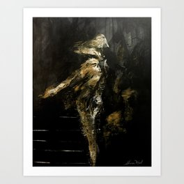Dancing in the loneliness Art Print