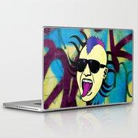 punk Laptop & iPad Skins featuring PUNK!!! by Denis Marsili DDTK
