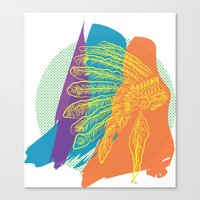 headdress Canvas Prints featuring Headdress  by kpatron
