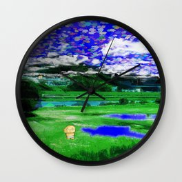 a scenery of Turbo's mind Wall Clock