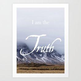 John 14:6 (2 of 3) I Am the Truth Inspirational Bible Verse Christian Art Art Print