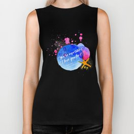 "Percy Jackson Percabeth House of Hades ""I love you too!"" Quote Biker Tank"