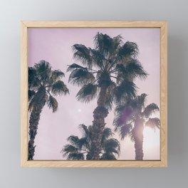 Palm Tree Art Print {2 of 3}   Magenta Pastels Topical Beach Plant Nature Vacation Sun Vibes Artwork Framed Mini Art Print