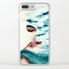 clouded thoughts Clear iPhone Case