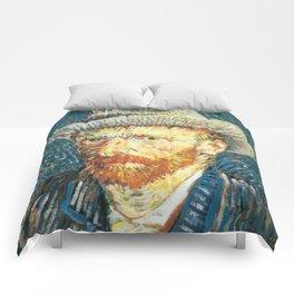 Vincent Van Gogh Self Portrait Comforters