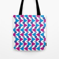 bows Tote Bags featuring Bows by Emely Vertiz