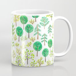 Watercolor forest in doodle style Coffee Mug