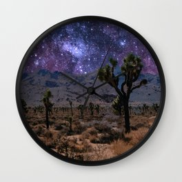 Purple Desert Galaxy Wall Clock