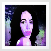 aaliyah Art Prints featuring Aaliyah by UnifiedGlory