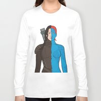 katniss Long Sleeve T-shirts featuring Katniss-Mystique by richoz