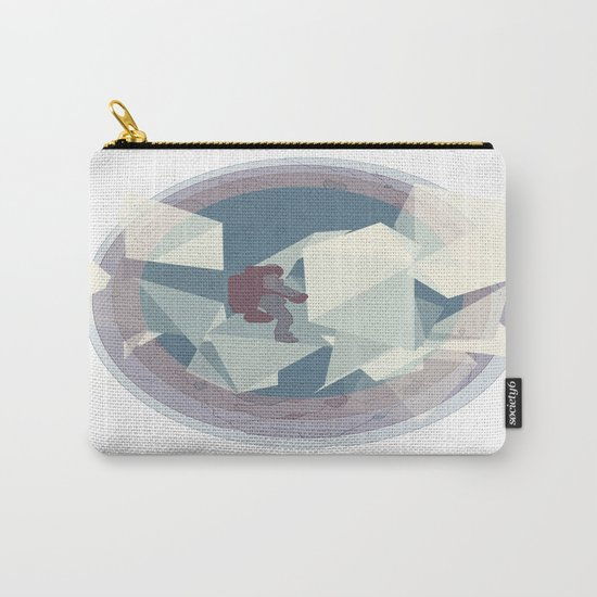 Astronaut and ice planet Carry-All Pouch