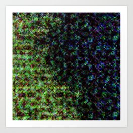d61: color damage Art Print