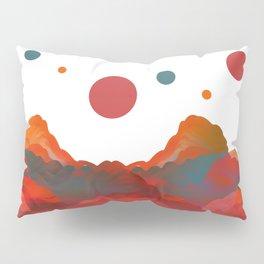 """Coral Sci-Fi Mountains"" Pillow Sham"