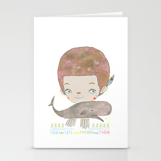 Extinction - SAVE SAFE Stationery Cards