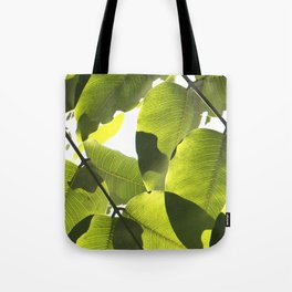 Close Up Leaves Tote Bag