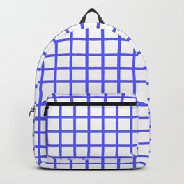 Grid (Blue & White Pattern) Backpack