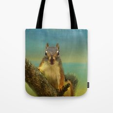 Little Red Squirrel Tote Bag