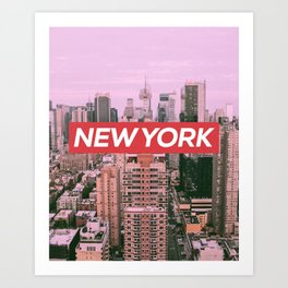 New York City (Vintage Collection) Art Print