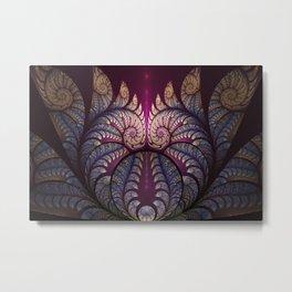 Surreal Snails, Abstract Fractal Art Metal Print