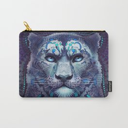 Snow Leopard Late Night Carry-All Pouch