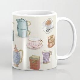 Vintage Teacups and Teapots Coffee Mug