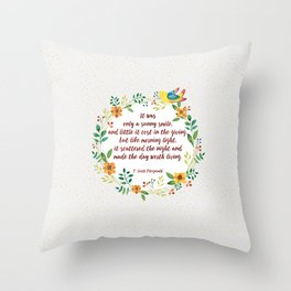 F.S. Fitzgerald  Throw Pillow