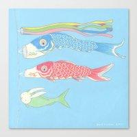 kozyndan Canvas Prints featuring Usagikoinobori by kozyndan