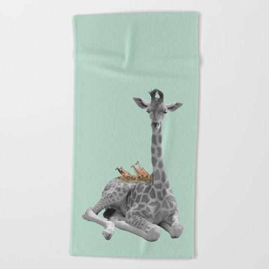GIRAFFE (animals collection) Beach Towel