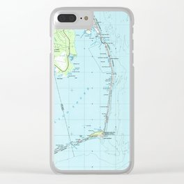 Vintage Southern Outer Banks Map (1957) Clear iPhone Case