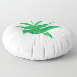 Mistlestoned Stoner Weed Cannabis Leaf T-Shirt Floor Pillow