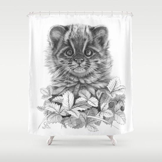 Asian Leopard Cat Cub G096 Shower Curtain