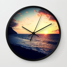 Kalalau Sunset Wall Clock