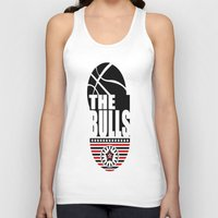 chicago bulls Tank Tops featuring THE BULLS  by Robleedesigns