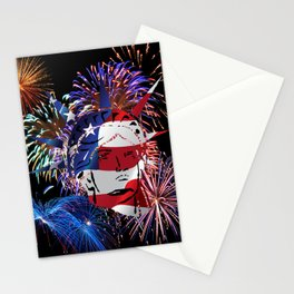 Abstract, Liberty, Flag (OS17006) Stationery Cards