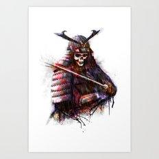 Dead Samurai Art Print