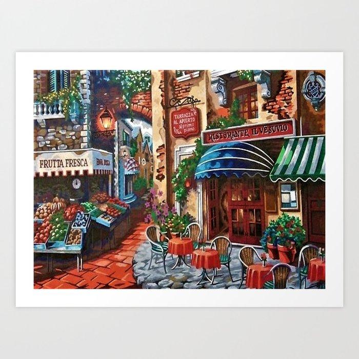 Italian Bistro Art Print