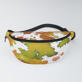Watercolour Splash Orange Fanny Pack
