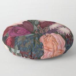 Dark florals Floor Pillow
