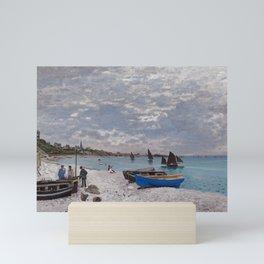 "Claude Monet ""The Beach at Sainte-Adresse"" Mini Art Print"