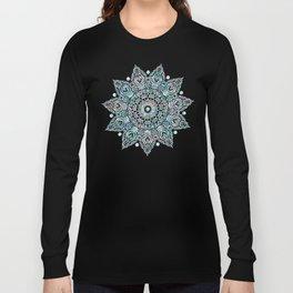 Mermaid Mandala on Deep Gray Long Sleeve T-shirt