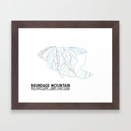 Brundage Mountain, ID - Minimalist Trial Art Framed Art Print