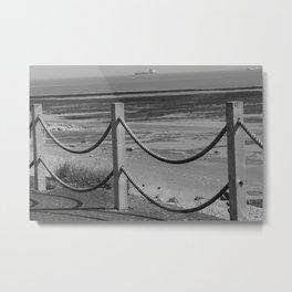 Ropes At Low Tide Metal Print