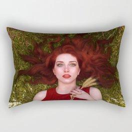 Bread and Roses Rectangular Pillow