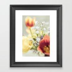Cut through the Garden Framed Art Print